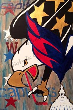 Washington Capitals Logos Painting Weagle