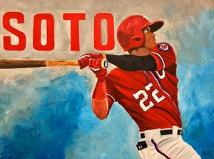Juan Soto Painting, MLB, Nationals, Baseball