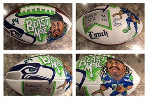 Seattle Seahawks, Marshawn Lynch, Artwork, Painting