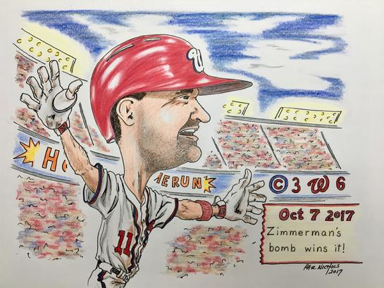 Washington Nationals, DC, Zimmerman, Caricature